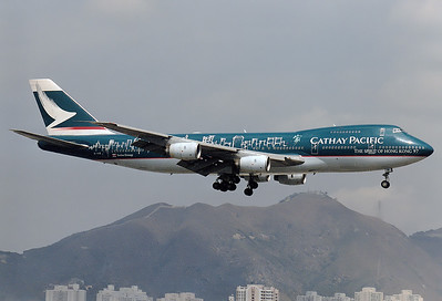 Cathay Pacific Airways B-HIB Boeing 747-267B SN: 22149 Hong Kong - Kai Tak International (HKG / VHHH) Februar 1998