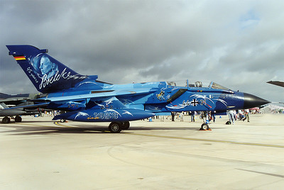 20030720_FFD: The Blue  Lightning of JBG 31 from Nörvenich got the award of the most beautiful colourscheme at Fairford, UK, RIAT 2003.