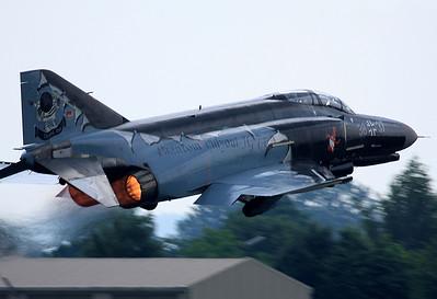 20080612_ETSN: Phantom Phlyout JG 74, 38+37 is using full afterburner for take off.