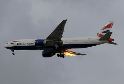 Sept. 6th, 2017: Some very scary moments for this BA B.777! Speedbird 82GD from Heathrow to Athens took off from Heathrow's Runway 27L at 1.40pm. The right engine of BA B.777 G-VIIH suffered a flame out during climb out and several loud bangs could be heard. Later on it safely landed back at Heathrow with only one engine running.