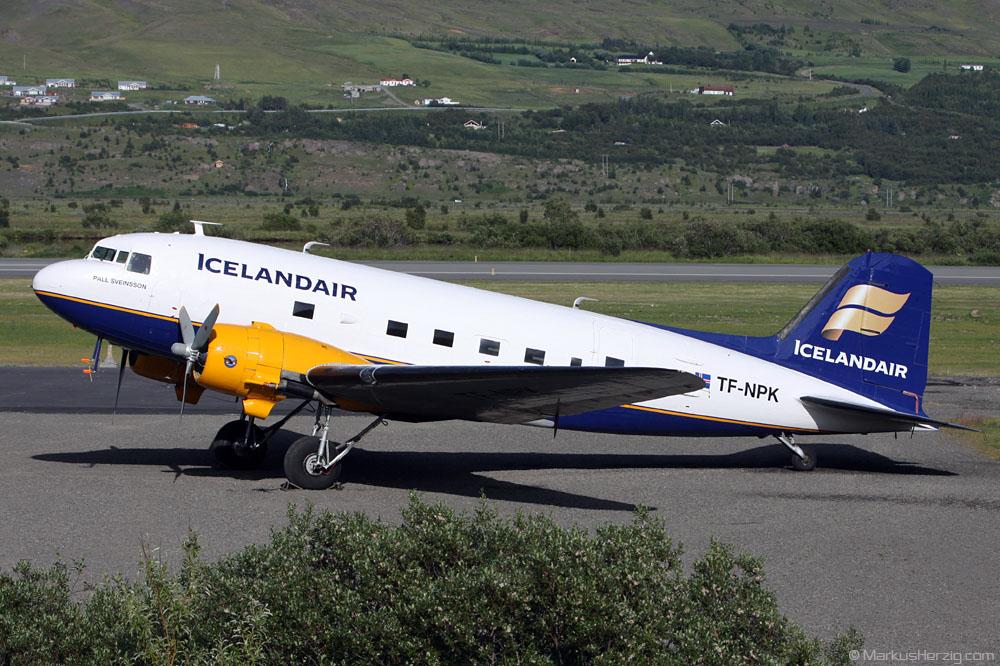 TF-NPK DC-3 Icelandair @ Akureyri Iceland 21Jul10