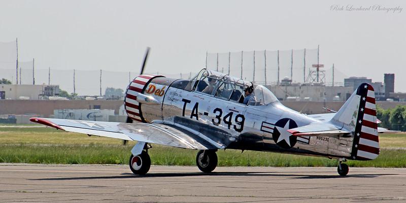 AT-6 Texan as it starts takeoff roll.