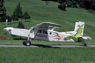 HB-FMD N424PS Pilatus PC-6/B2-H4 #936 @ Buochs Switzerland 6Jul00