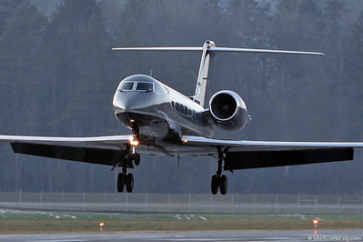 G-MATF Gulfstream IV Gama Aviation @ Bern Switzerland 23Jan11