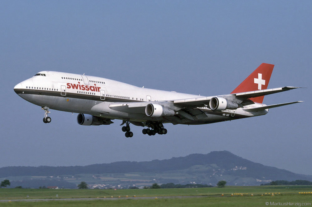 HB-IGE B747-357 Swissair @ Zurich Switzerland 17May97