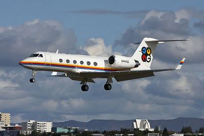 N444QG Gulfstream IV Private @ Reykjavik Iceland 30Jul09