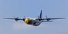 """USMC """"Blue Angels"""" C-130 Hercules transport aircraft."""