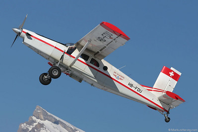 HB-FDU PC-6/B2-H2 #663 Air Glaciers @ Sion Switzerland 5Feb05