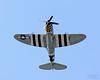 P-47 Thunderbolt flying overhead.