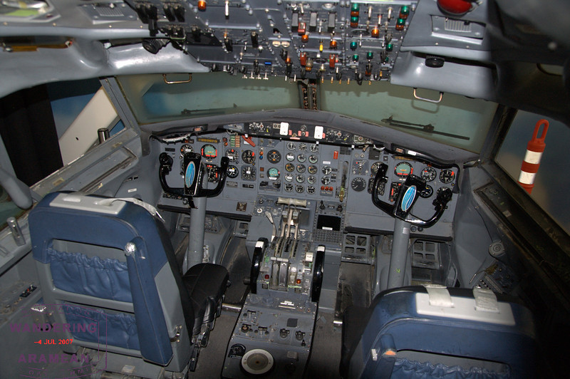 Interior of a 727 cockpit