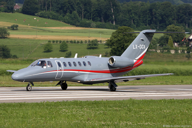 LX-DCA Cessna 525B Serlux @ Bern Switzerland 14Jun08