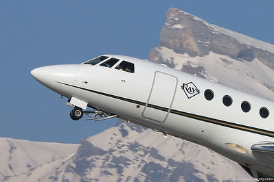 N198MR Falcon 50 Tampa Bay Airlines @ Sion Switzerland 2Jan11 - Tampa Bay Rays baseball team