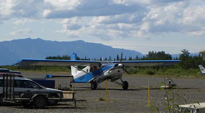 A Pilatus Porter at McCarthy Airport, McCarthy, Alaska