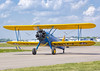 A Stearman Taxis in at Sun n' Fun 2017