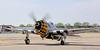 P-47 Thunderbolt preparing for takeoff run.