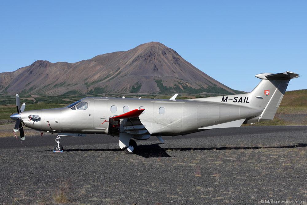 M-SAIL Pilatus PC-12/47 Glen & Gordon @ Myvatn Iceland 19Jul10