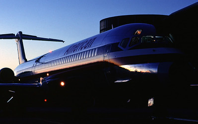 "I took this during my ""walk-around"" when I was a first officer. We were in Austin, TX heading to Dallas/Fort Worth, TX. I set two strobes up in the cockpit and used some of the MD-82's exterior lights to add some drama to the image. This was taken in 1993."
