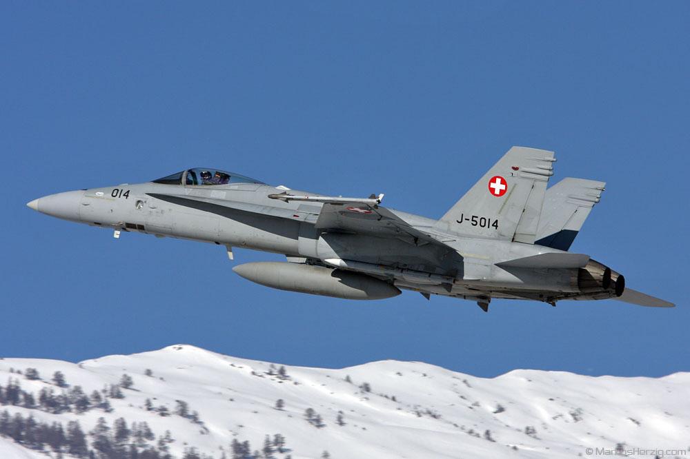 J-5014 F/A-18C Swiss Air Force @ Sion Switzerland 30Jan09