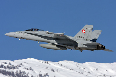 J-5014 F/A-18C Swiss Air Force @ Sion Switzerland 30Jan09