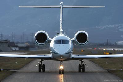 N310GJ Gulfstream G450 Elite Air @ Sion Switzerland 2Jan10