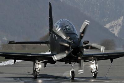 HB-HZA Pilatus PC-21 Pilatus Aircraft @ Buochs Switzerland 25Feb04
