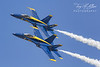 Blue Angels 1 & 2 Make a Low Sweeping Pass at Sun n' Fun 2017
