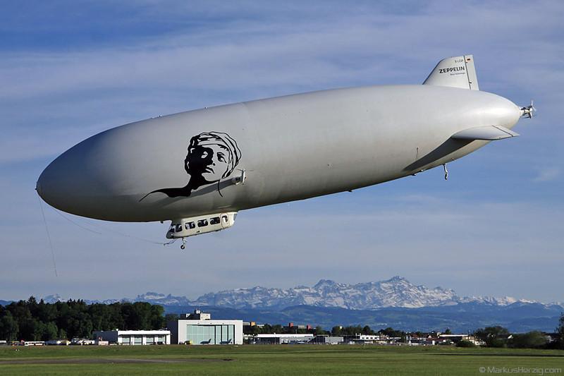 D-LZZF Zeppelin LZ N07-100 Airship Deutsche Zeppelin Reederei @ Friedrichshafen Deutschland 17May12