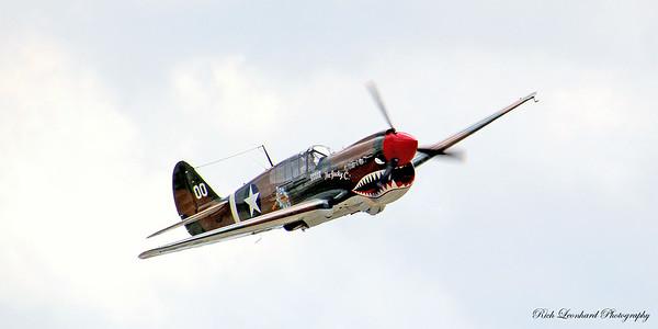 P-40 Warhawk on flyby