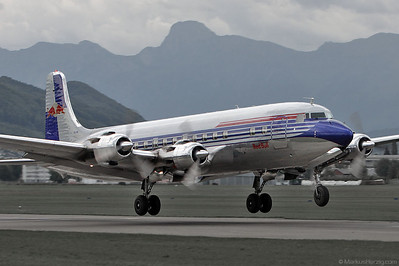 N996DM Douglas DC-6B Flying Bulls @ Bern Switzerland 27Aug10