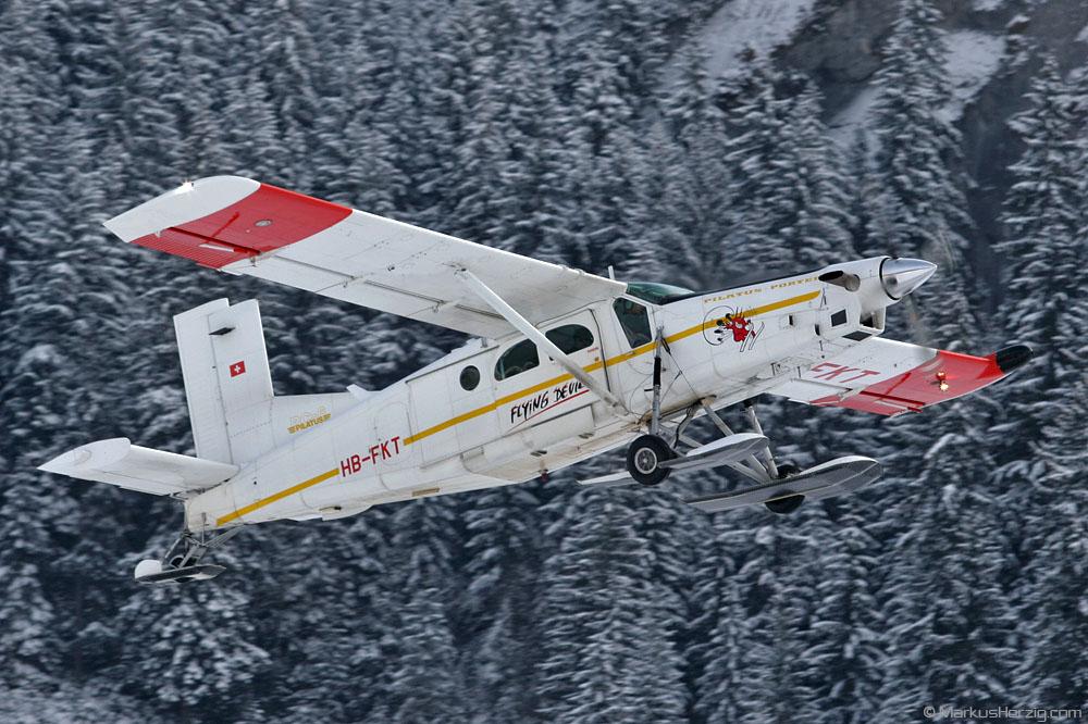HB-FKT PC-6/B2-H4 #876 Flying Devil @ Saanen Switzerland 26Jan07