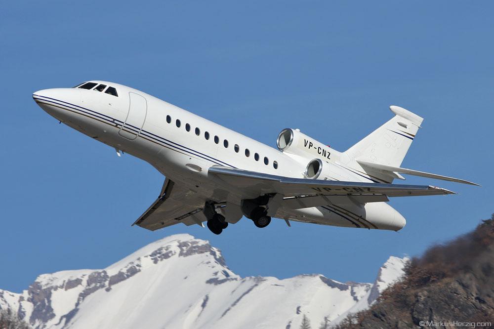 VP-CNZ Falcon 900EX @ Sion Switzerland 10Feb08
