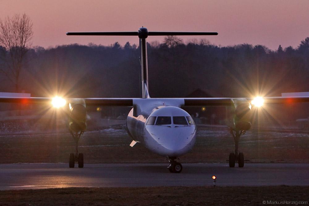 HB-JGA DHC-8-402 Sky Work Airlines @ Bern Switzerland 23Jan11