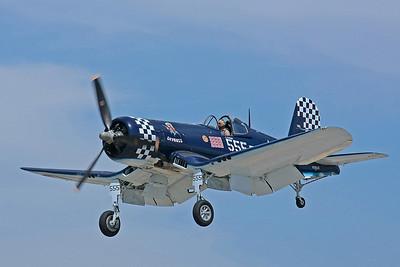 F4U Corsair on landing approach