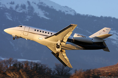 N775ST Falcon 2000 Aero Records @ Sion Switzerland 19Jan08