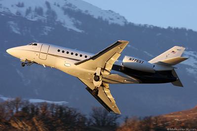 N775ST Falcon 2000 Aero Records @ Sion Switzerland 19Jan08