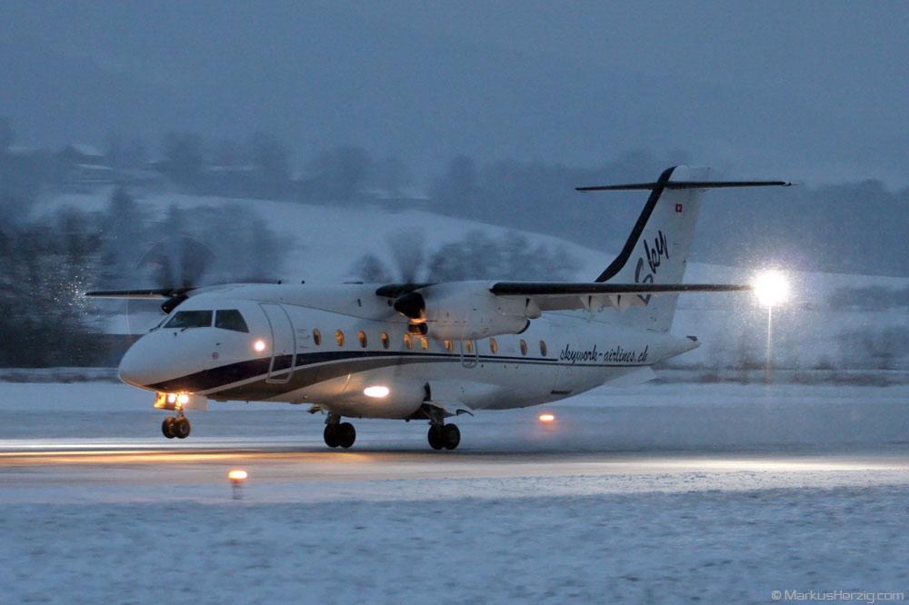 HB-AES Do328 Sky Work Airlines @ Bern Switzerland 29Dec05