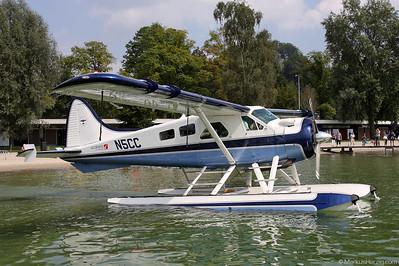 N5CC DHC-2 Mk1 Beaver @ Luzern-Lido Switzerland 4Sep10
