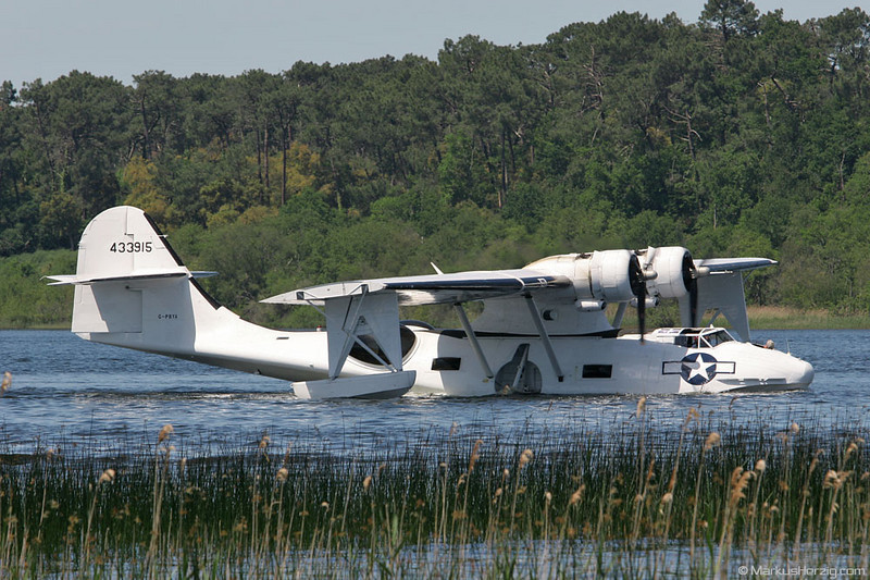G-PBYA PBY5A Canso Catalina Aircraft @ Biscarrosse France 27May06