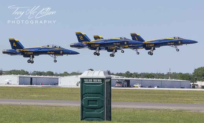 Blue Angels Buzz the Outhouse