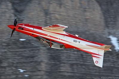 A-105 Pilatus PC-21 Swiss Air Force @ Axalp Switzerland 14Oct10