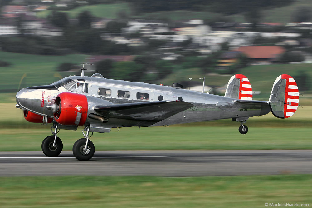 N21FS Beech 3NM Hugo Mathys @ Bern Switzerland 5Jul08