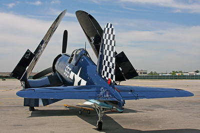 Corsair with folded wings