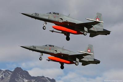 J-3057 J-3041 F-5E Swiss Air Force @ Sion Switzerland 28Oct10