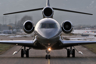 D-APLC Falcon 7X ACM Air Charter @ Sion Switzerland 4Jan13