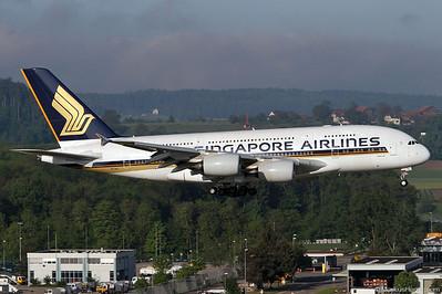 9V-SKL A380-841 Singapore Airlines @ Zurich Switzerland 17May12