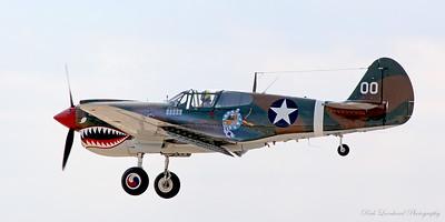P-40 Warhawk on final approach.