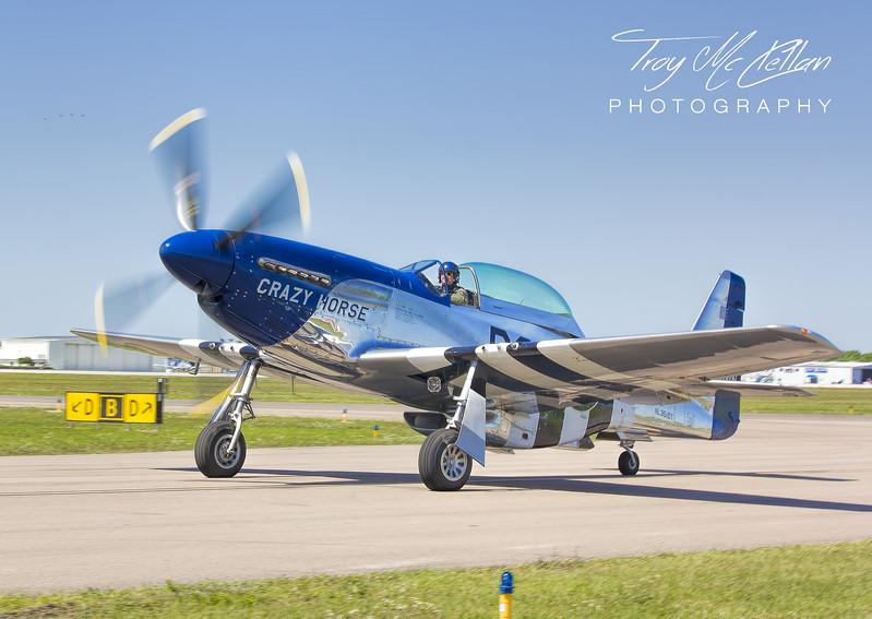 P-51 Crazy Horse Taxis In at Sun n' Fun 2017