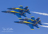 Blue Angles  in Tight Formation