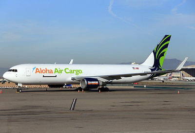 Aloha Air Cargo Boeing 767-323/ER(BDSF)  MSN: 25451 Line No.: 498 Reg.: N399CM  Los Angeles - Intl. (LAX / KLAX)  California  USA November 25, 2017  Brandnew and first B.767-300BDSF for Aloha Air Cargo, ex N382AN American Airlines. Conversion to freighter was done by Bedek Aviation Tel Aviv, Israel, in 2017.