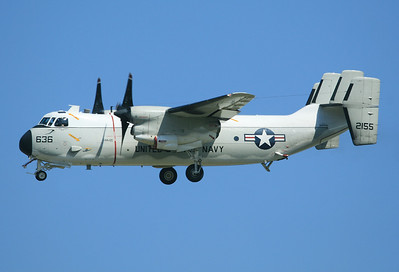 USA - Navy Grumman C-2A Greyhound (G-123) 	 El Centro - NAF (NJK / KNJK) USA - California, October 25, 2006  162155 / AD-636 (cn 35) A VAW-120 'Greyhawks' C-2 from NS Norfolk,VA, is turning final for RWY 26 at NJK.